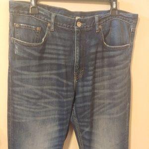 ❤️ Men's Banana Republic Faded Boot Cut Jeans 35